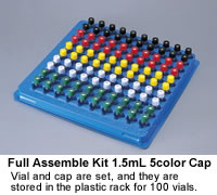Full Assemble Standard Vial with Shimadzu 5 Color Cap